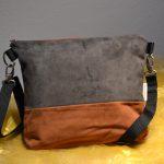 Wildledertasche-zweifarbig